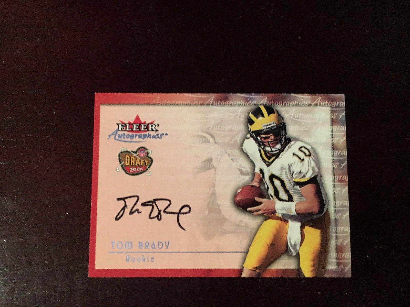 2000 fleer autographics tom brady auto rc authentic card
