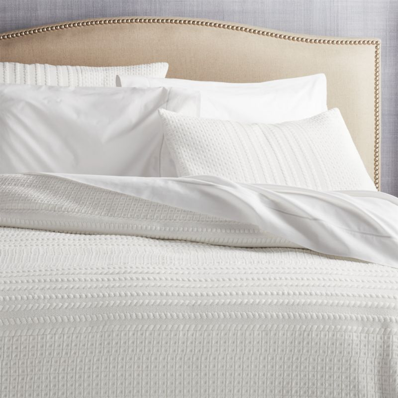 Doret White Jersey Quilt King Reviews Crate And Barrel Jersey Quilt Textured Bedding Linen Bedding