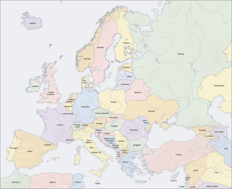 modern europe political map ap hug maps baltic region
