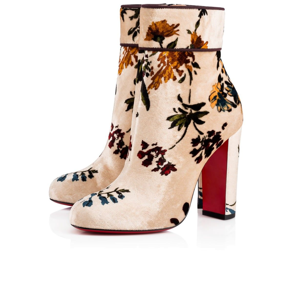 ada8b4369a2 CHRISTIAN LOUBOUTIN Moulamax 100 Nude/Multi Velvet - Women Shoes ...