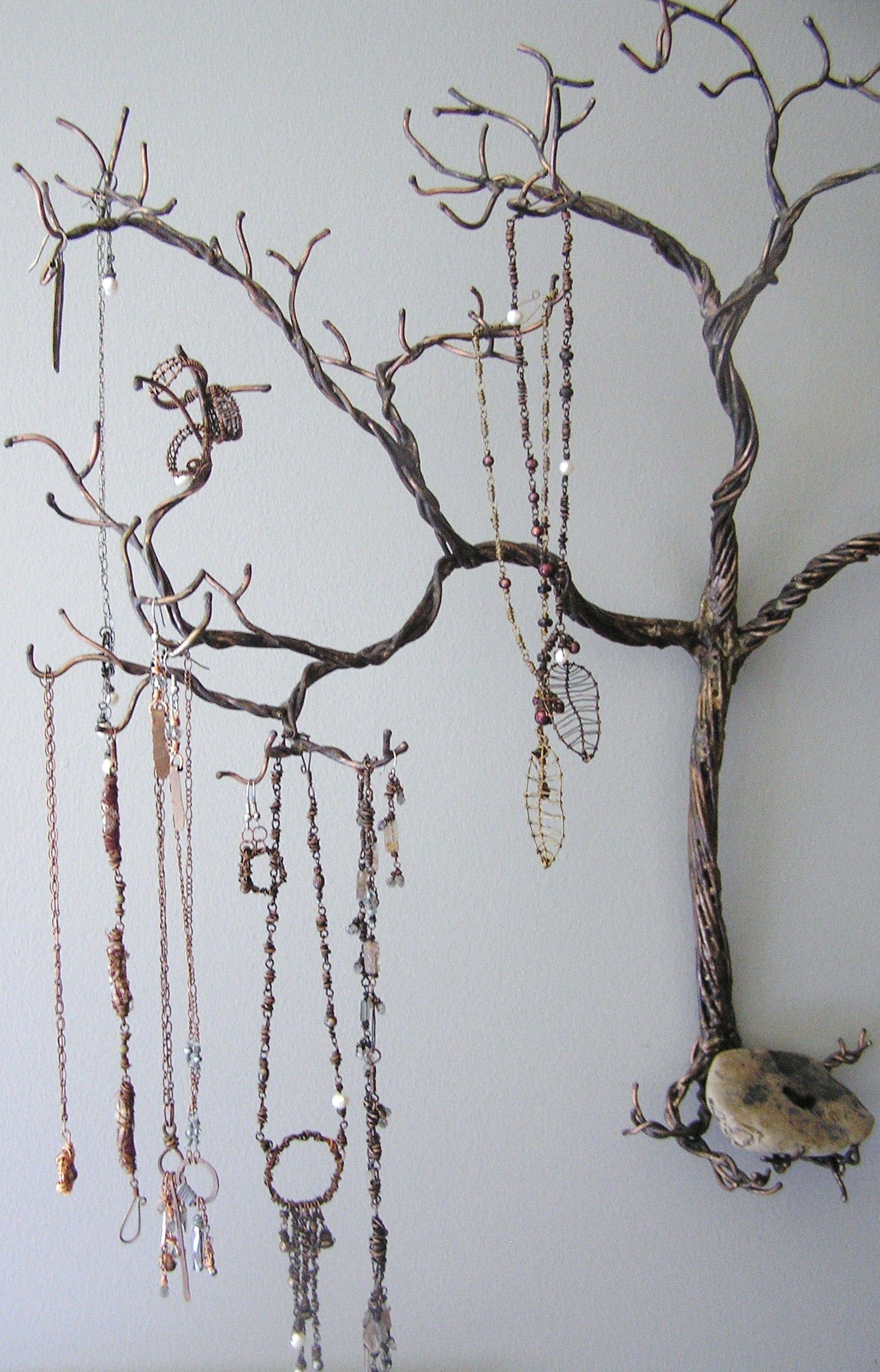 Tree Branch Jewelry Holder : branch, jewelry, holder, Grandpa's, Jewelry, Holder,, Jewellery, Storage,