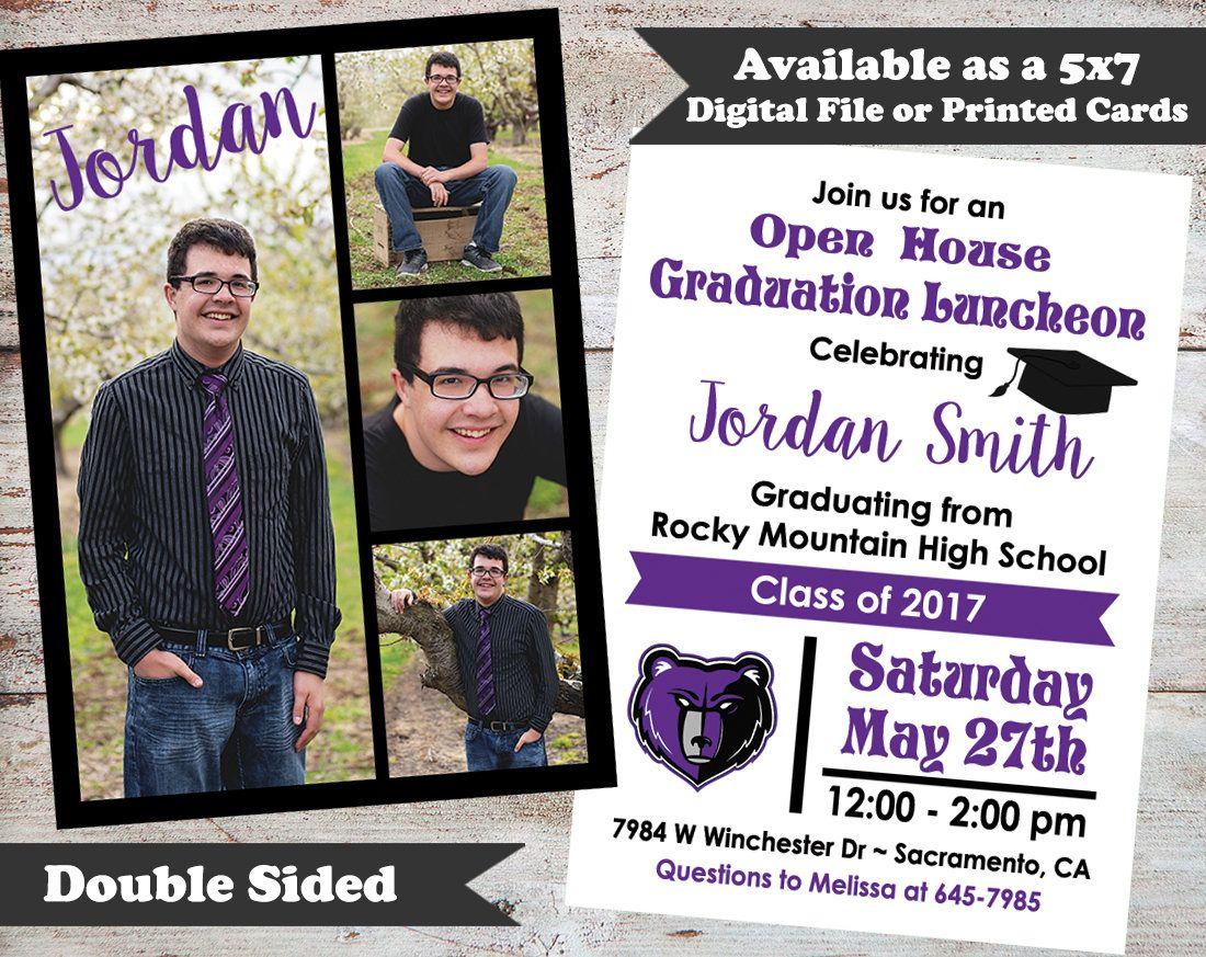 double sided graduation announcements photo graduation announcement