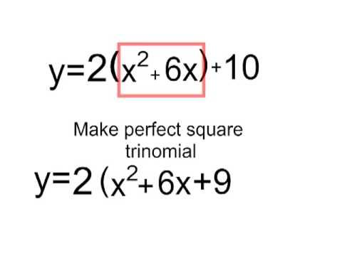 video for completing the square (better graphics) but