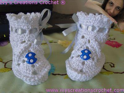 Crochê Tricô - Gráficos: Crochê - Sapatinhos de Bebê