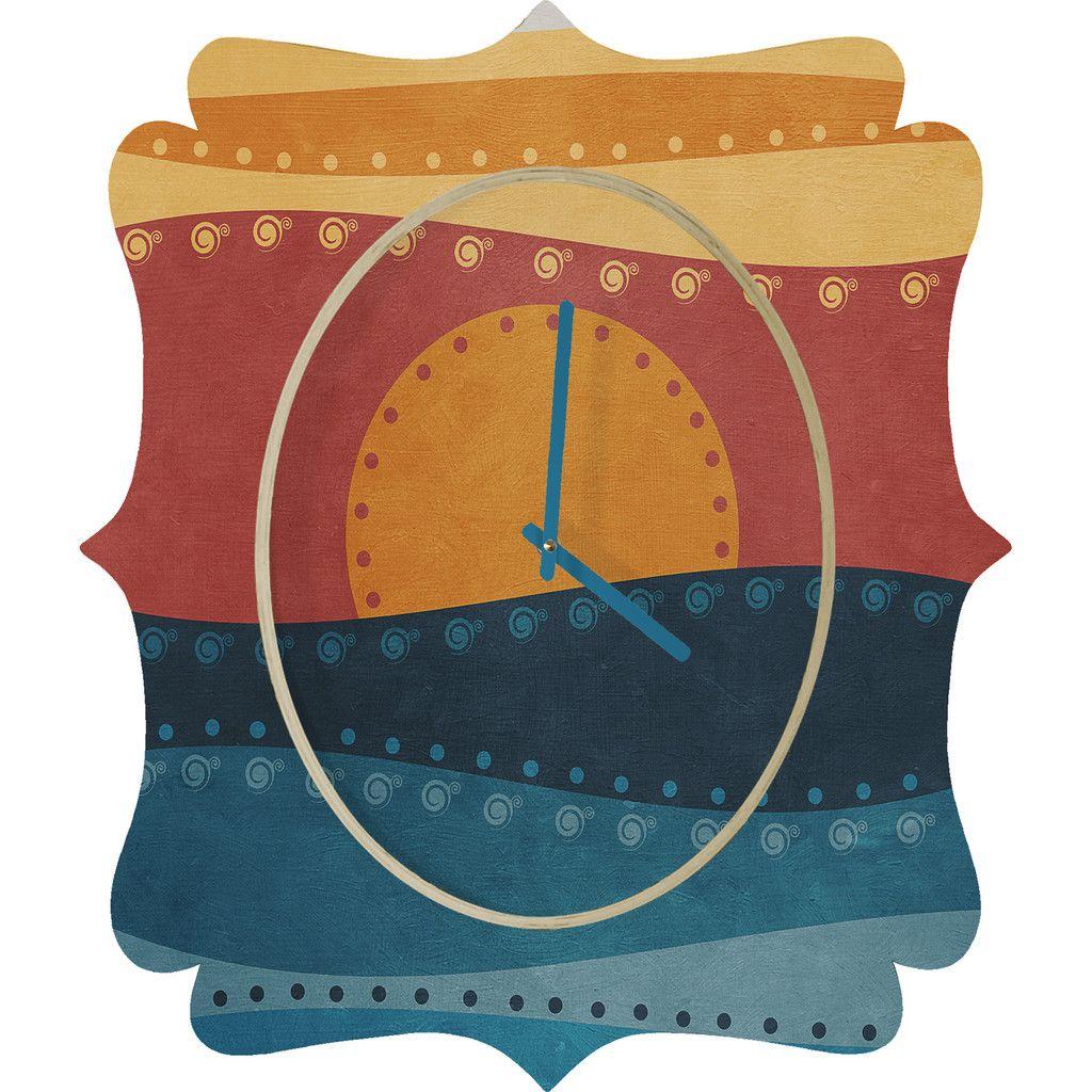 Viviana Gonzalez Textures Abstract 10 Quatrefoil Clock | DENY Designs Home Accessories