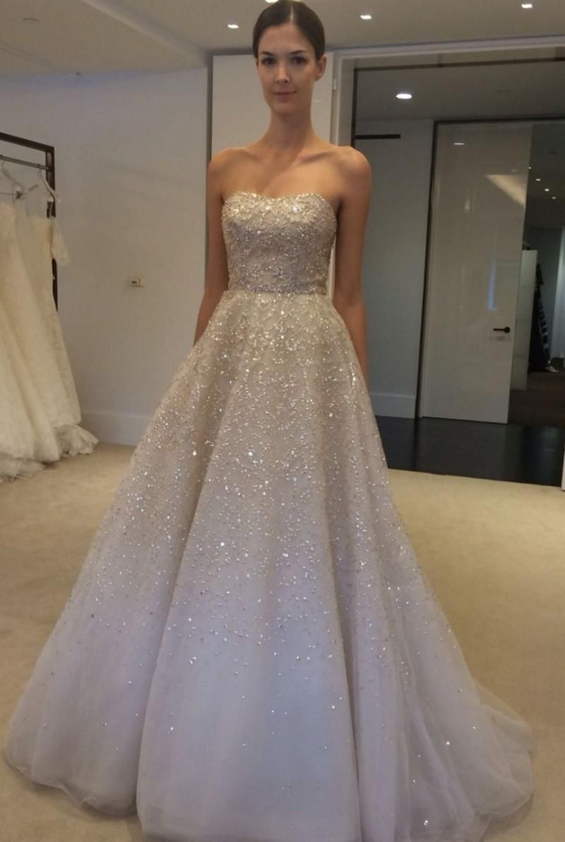 Real Image Wedding Dresses 2017 Spring Ivory Sequins Beads Strapless Bateau Sleeveless Bridal Ball Gowns Custom Made Vestido De Novia 130 62 Dhgate