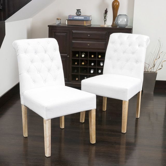 Awesome White Fabric Dining Chairs Best 11 In Home Decorating Ideas