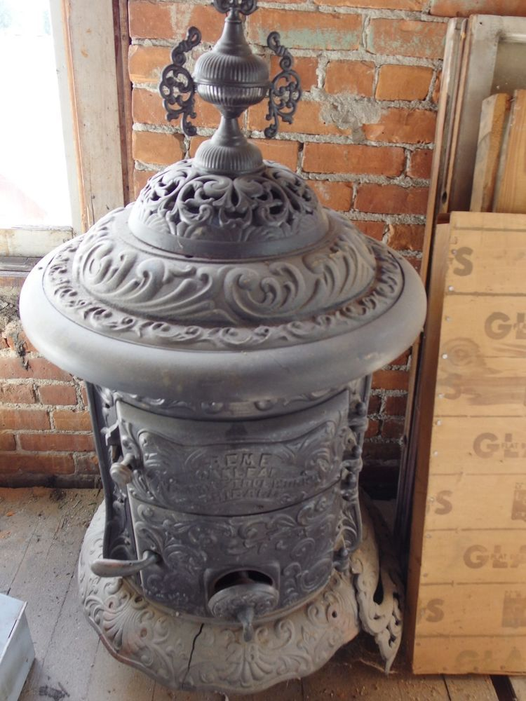 Original Antique Acme Oakleaf Newark Stove Works Chicago Il Decorative Cast Iron Cheminee Chicago Cuisiniere