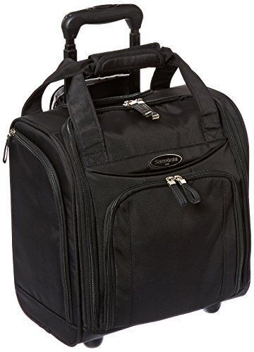 Airline Under Seat Wheeled Luggage Small Black Carry On Travel Bag Overnight Unbranded Wheeledbag