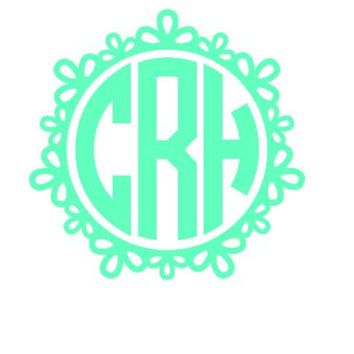 Best Custom Monogram Stickers Products On Wanelo New Venture - Circle monogram car decal