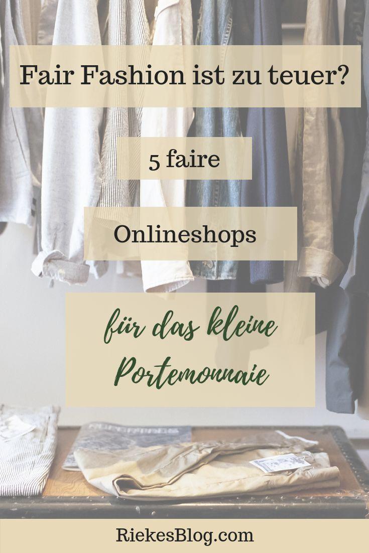 Fair Fashion ist zu teuer? — 5 faire online Kleidungsgeschäfte für das kleine Portemonnaie #mode