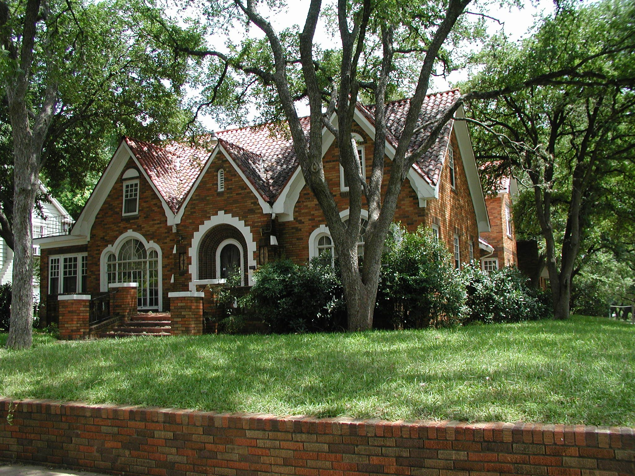 Brick tudor revival style home built in 1939 in the for Tudor revival house plans