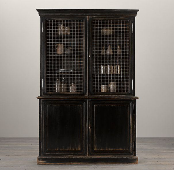 19th c english notary bookcase mixed material shelving cabinets restoration hardware - Restoration hardware cabinets ...