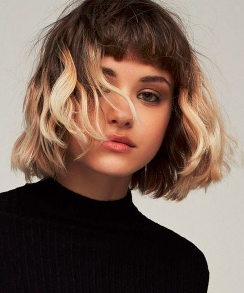 Chic Chin Length Bob Layered Haircuts 2018 With Bangs To Look Nice Short Hair Styles Tumblr Hair Hair Styles