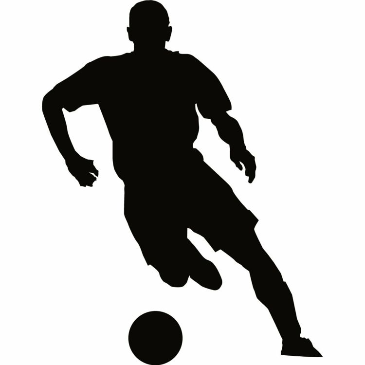 Wandschablonen Ausdrucken Fussballspieler Ball Junge