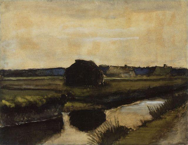Vincent Van Gogh Landscape At Nightfall 1883 Artist Van Gogh