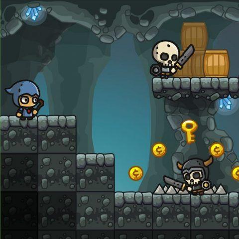 Cartoon Cave Platformer Tileset | 2D Game Art in 2019 | Free