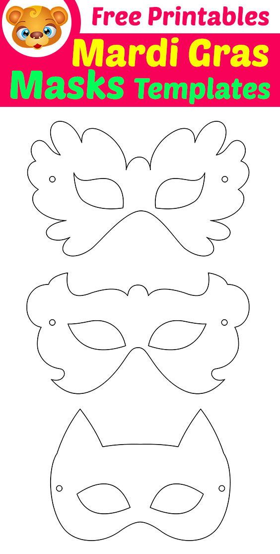 Free Printable Masquerade Masks Template | 123 Kids Fun Apps