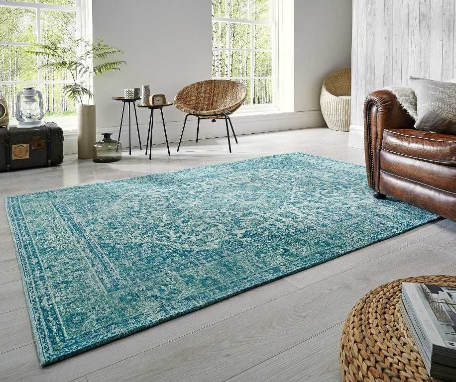 Palais   Bianco Chenille Turquoise | Turquoise rug, Turquoise rug