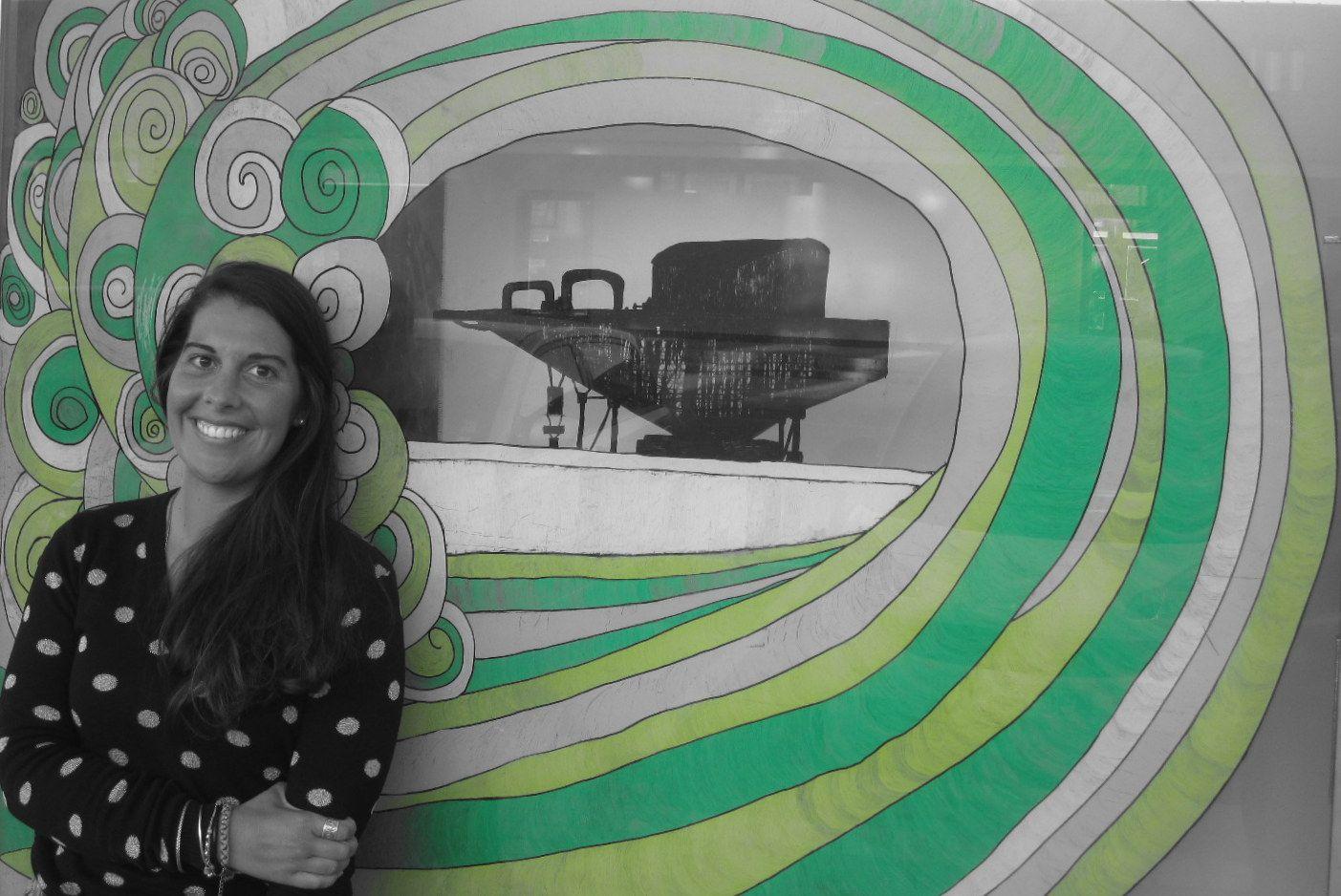 Filipa Costa´s work at Surf Leça. 2013. photo by: Céu Silva. Copyright. Please do not remove artist´s name.