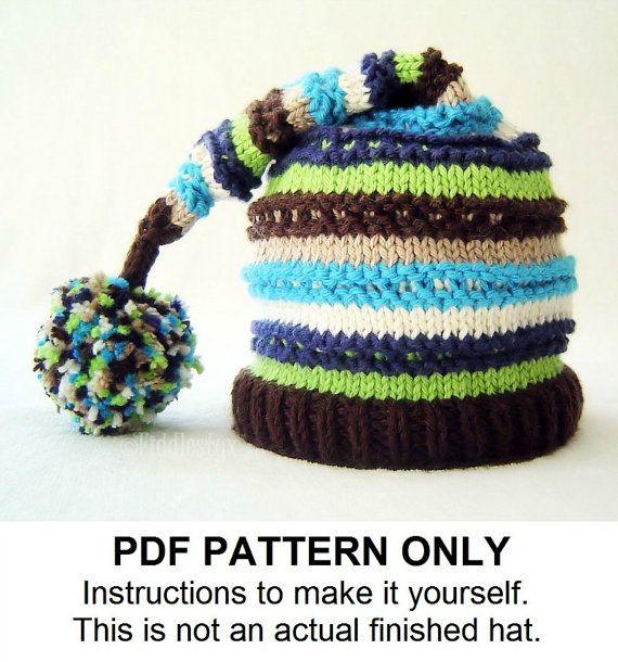 Knitting Pattern Boys Hat Pattern Stocking Hat Pattern The