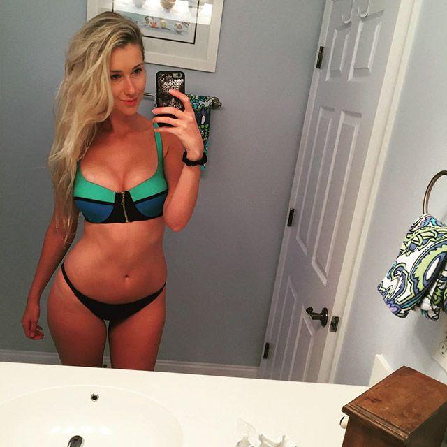 Blonde tits selfie piercied