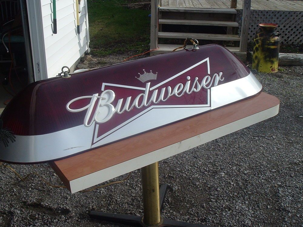 Man Caves Holland Ohio : Vintage budweiser pool table light quot long man cave