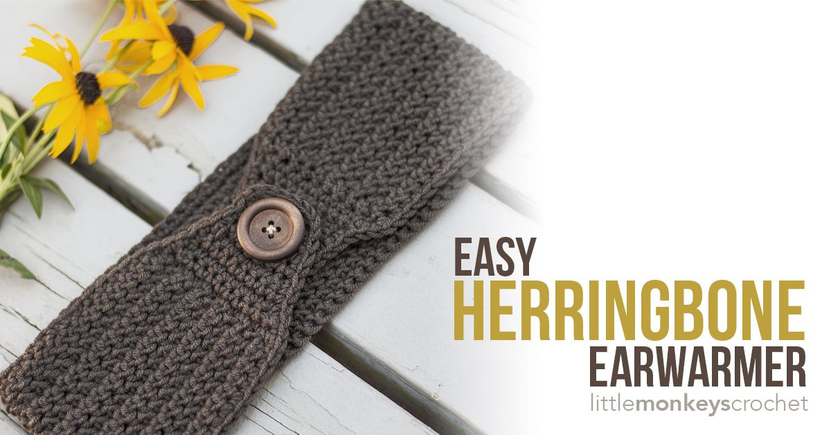 This simple earwarmer pattern uses the Herringbone stitch and will ...