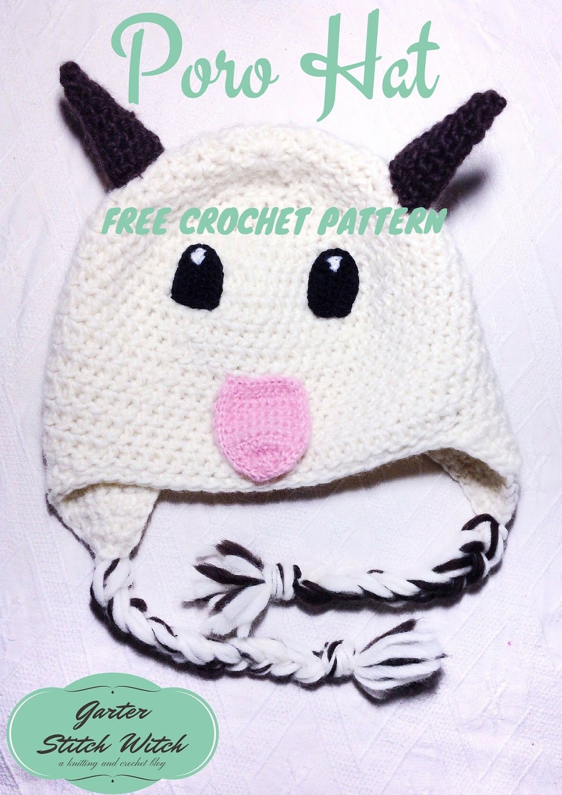 Garter Stitch Witch: League of Legends inspired Poro Hat - Free ...