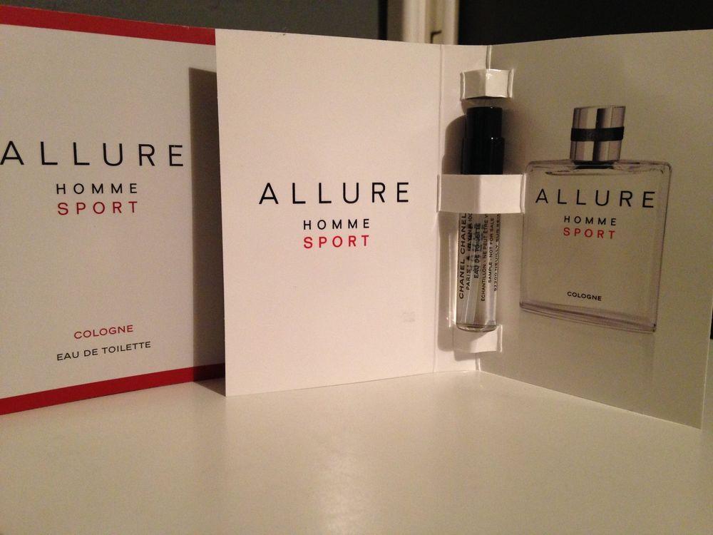 Chanel Allure Homme Sport Edt & Prada Luna Rossa Sport edt Mens 2ml Samples BNIB