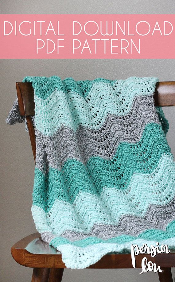 Feather And Fan Baby Blanket Crochet Pdf Pattern Instant Crochet