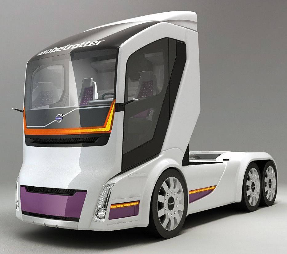 The High Tech Trucks Of The Future Future Trucks Truck Design Volvo