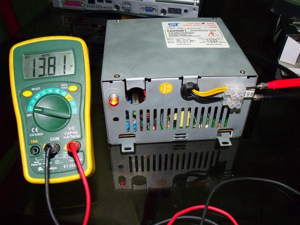 making a car battery charger with a old computer power supply see [ 1024 x 768 Pixel ]