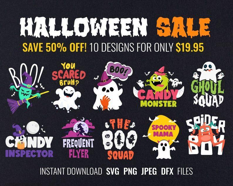 Halloween Shirt Svg Files For Cricut Bundle Unique Halloween Etsy In 2020 Svg Files For Cricut Unique Halloween Folder Design