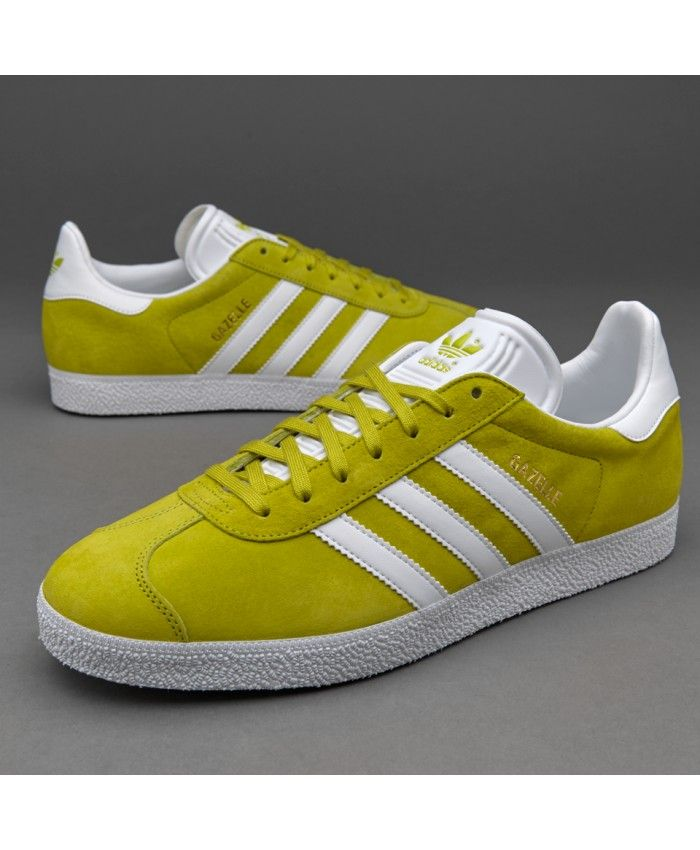 ee5bb2b10f37 Adidas Sale Originals Gazelle Unity Lime White Gold Trainers ...