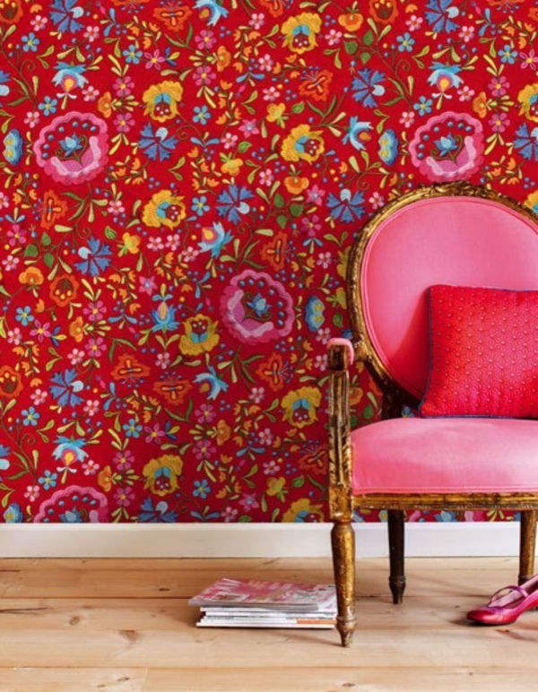 Tapeten Farben Ideen Interessante Rote Farbschemen | Tapete Und Farben |  Pinterest | Wallpaper Murals