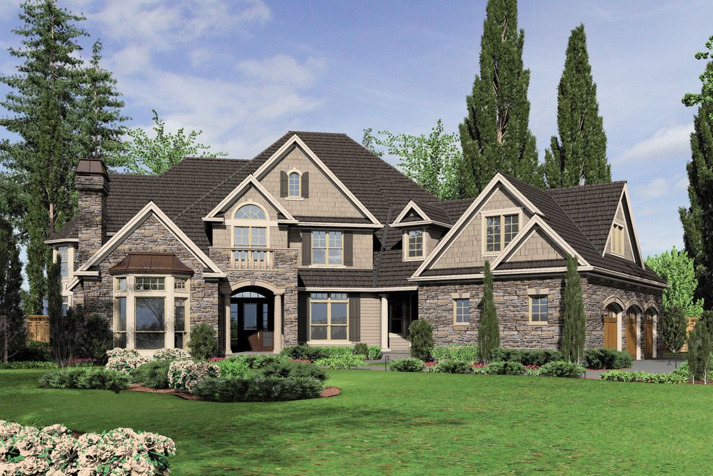 New American House Plan with 6020 Square