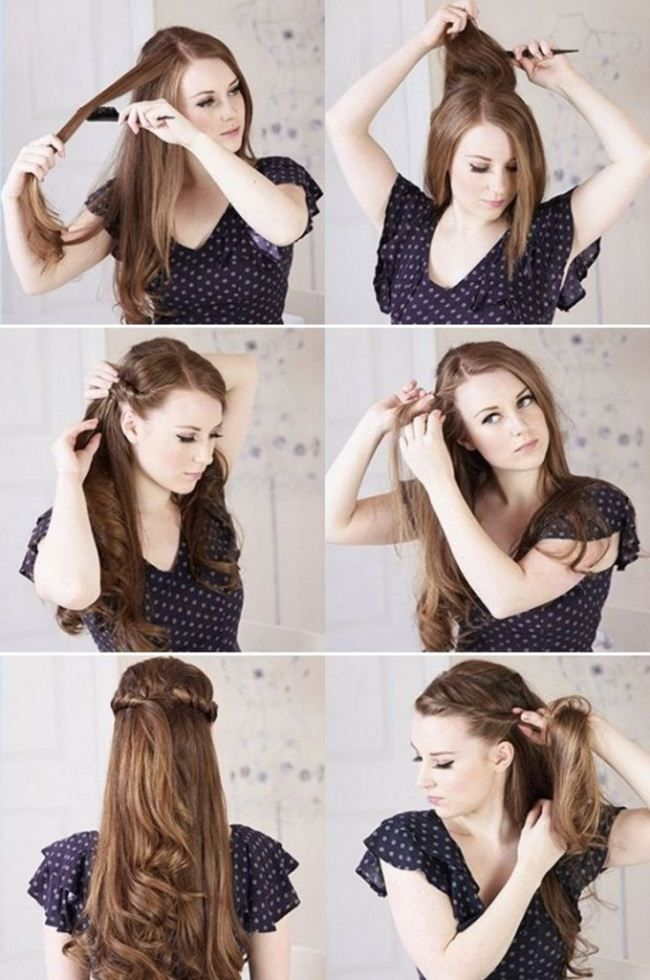 Latest Pakistani Eid Hairstyle Step By Step For Girls And Women Hair Styles Princess Hairstyles Long Hair Styles
