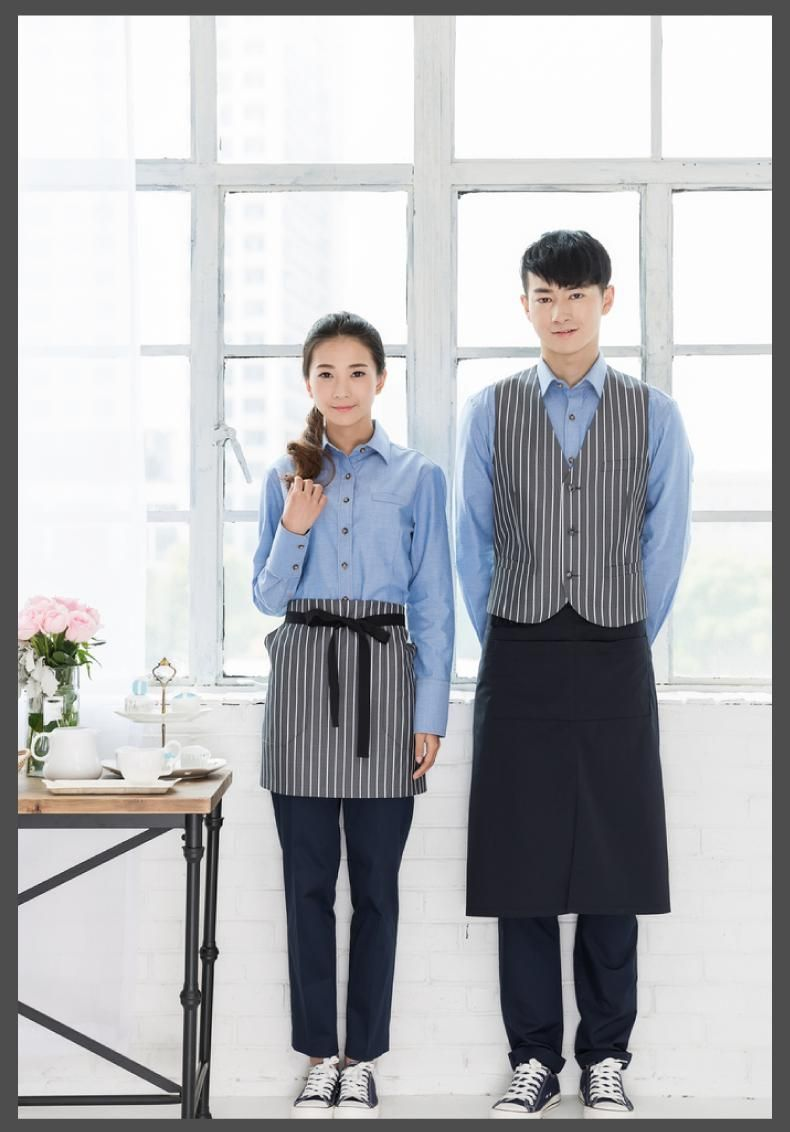 Buy coffee shop service work clothes long for Uniform spa italy