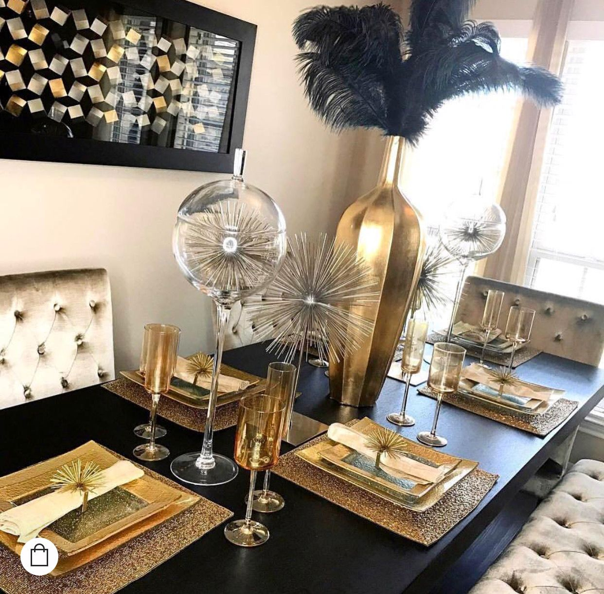 Pin By Ingrid Menger On House Gold Dining Room Table Dining Room Table Decor Gold Dining Room