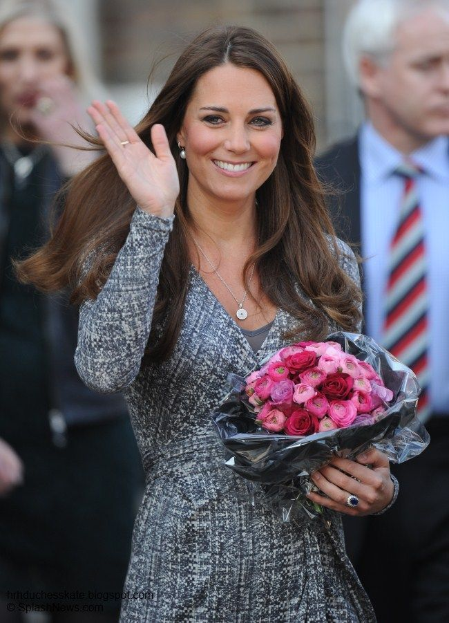 7648db9b9192 Duchess Kate Returns to Public Engagements With a Visit to Hope House 2 19 13  via HRHDuchessKate