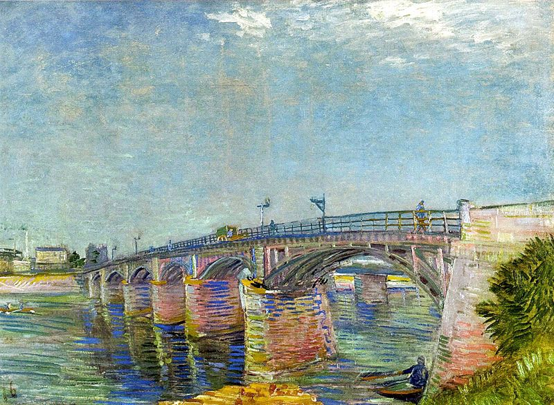 Vincent Van Gogh The Seine Bridge At Asnieres Summer 1887