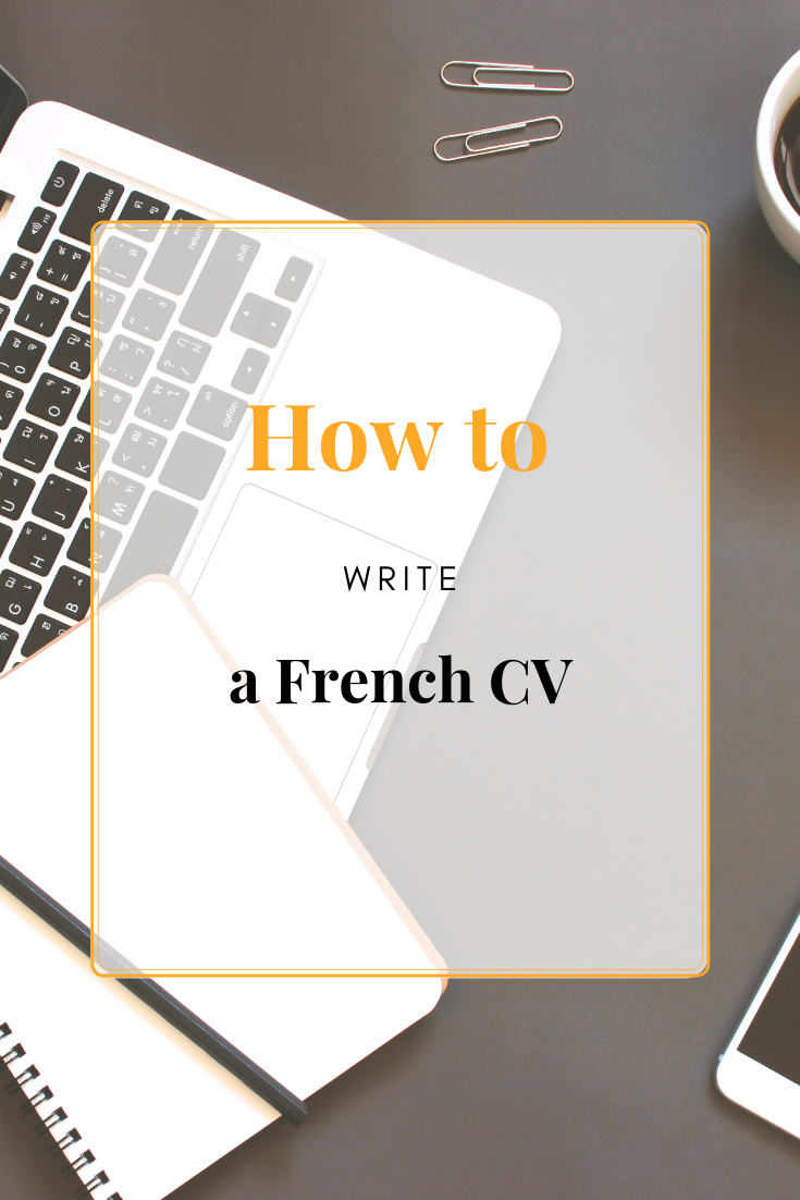 How To Write A French Cv Education System People Skills Writing