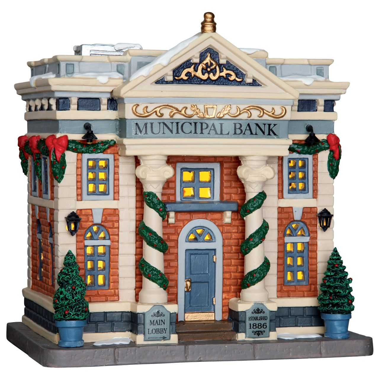 Lemax Municipal Bank. SKU 65082. Released in 2016 as a