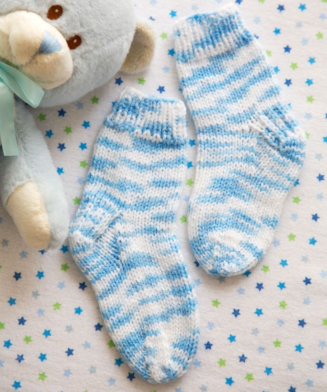 Easy knit socks are perfect for baby and the washable yarn is alfies socks free knitting pattern on red heart yarns i seriously need to teach myself how to knit bankloansurffo Image collections