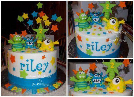 Little Monsters cake savannah said cute n she will eat lol