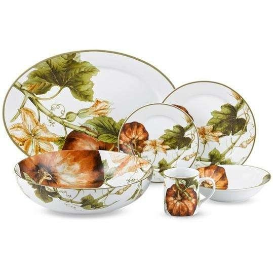 Beautiful China Patterns for Your Fall Table Botanical Pumpkin  sc 1 st  Pinterest & The Most Beautiful China Patterns for Your Fall Table | China ...