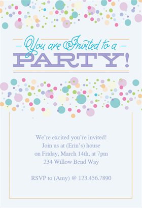 Polka dots printable invitation template customize add text and polka dots free party invitation template greetings island stopboris Choice Image