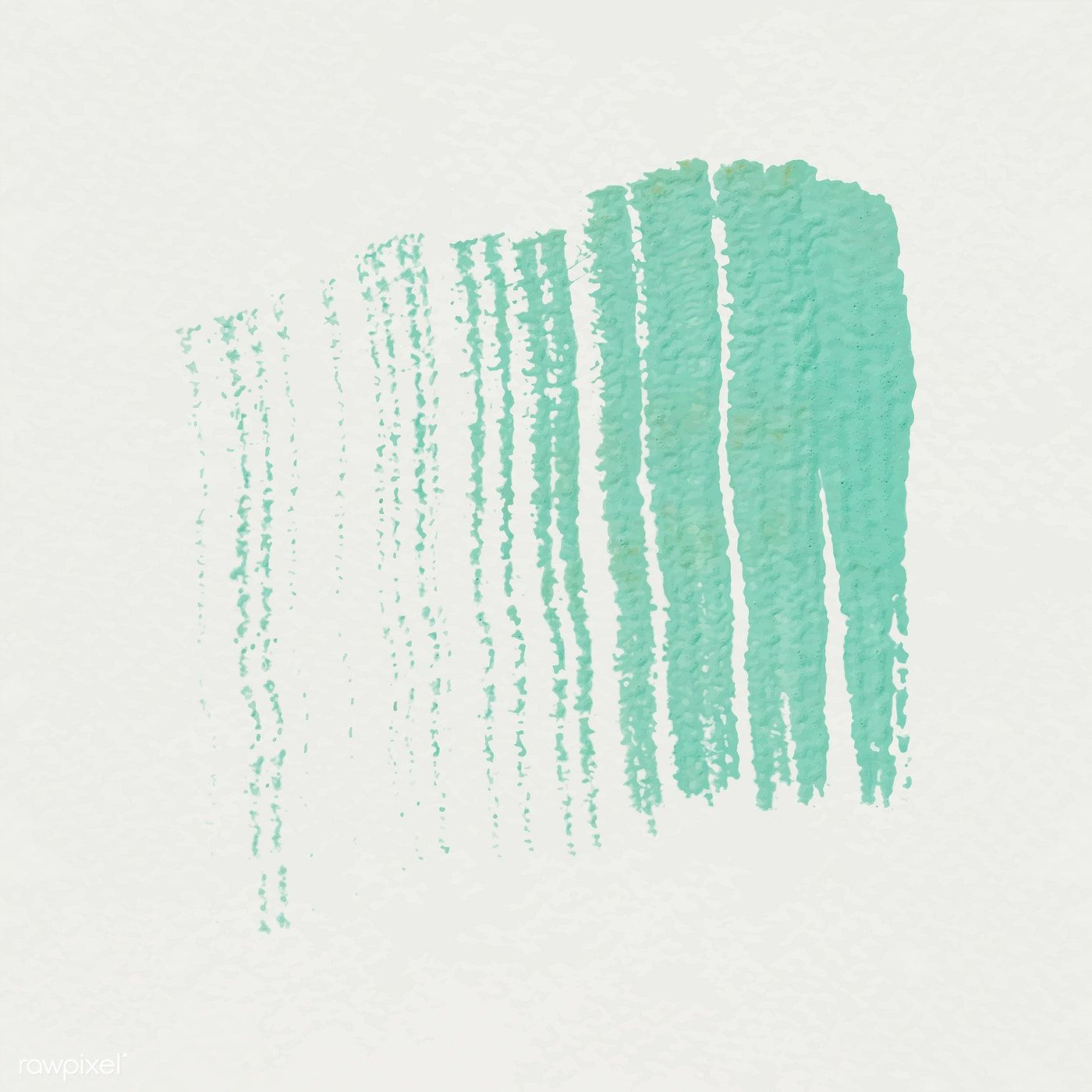 Green acrylic brush stroke vector free image by rawpixel