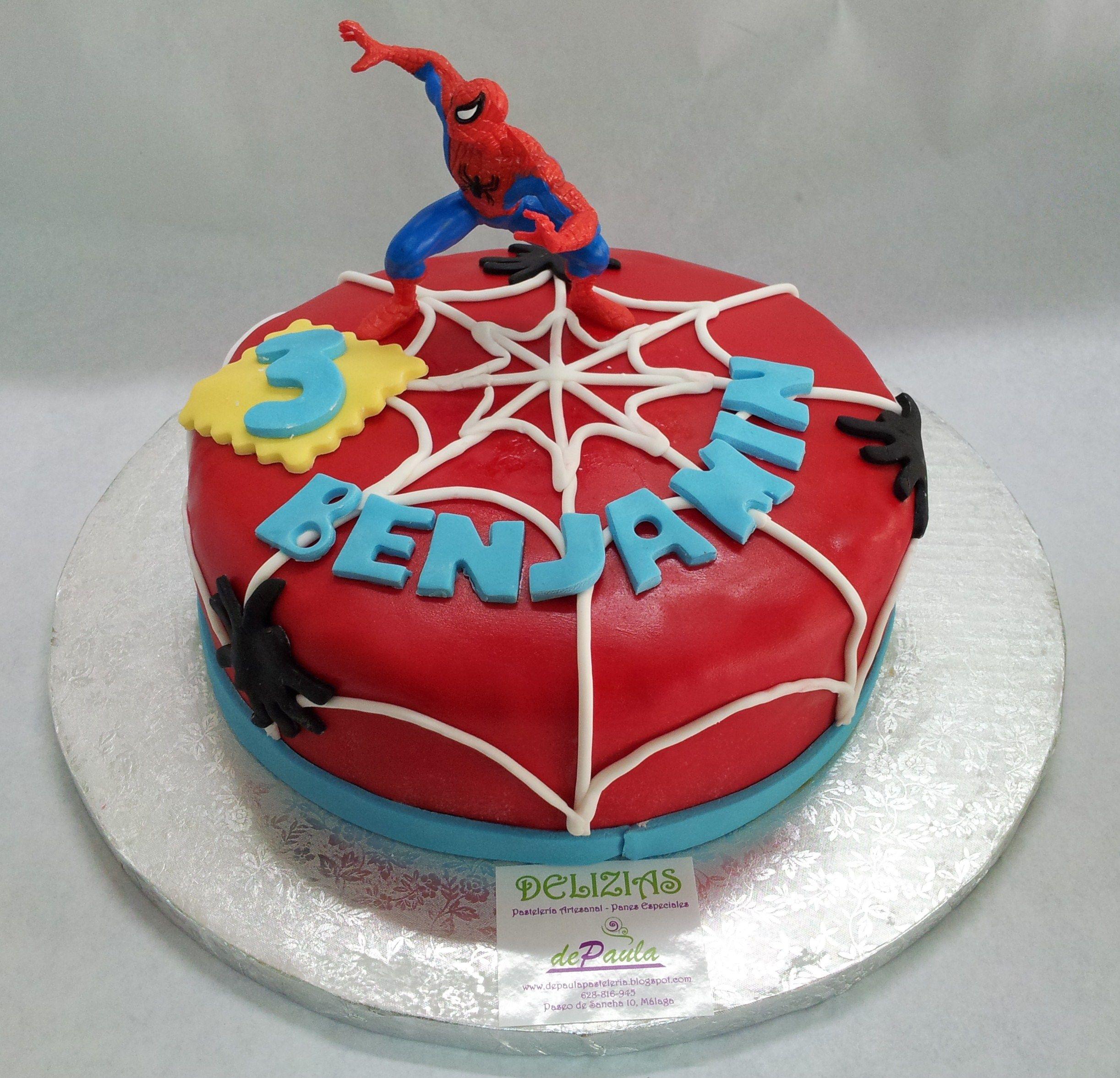 Tarta personalizada con Fondant Spiderman Quien fuera nio